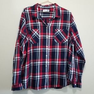 Old Navy Shirts - Old navy classic plaid flannel button up shirt